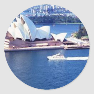 LOTUS Temple Australia Round Sticker