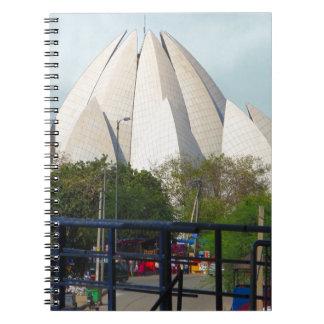 Lotus Temple New Delhi India Bahá'í House Worship Notebook