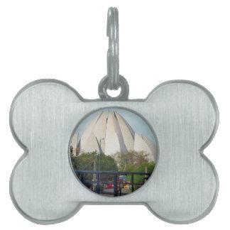 Lotus Temple New Delhi India Bahá'í House Worship Pet Name Tag