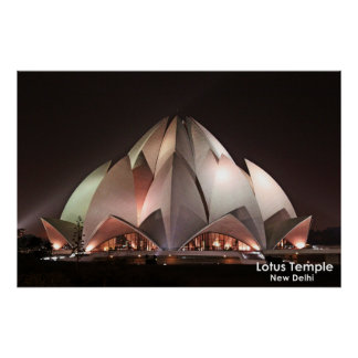 Lotus Temple Poster