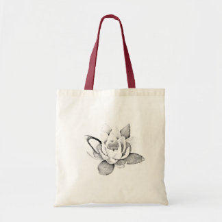 LOTUS TOTE BAG IN BLACK AND WHITE