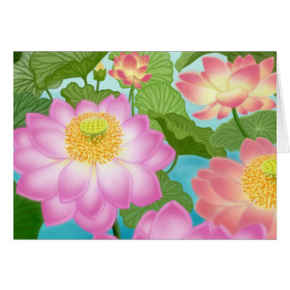 Lotus Water Lilies Card