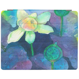 Lotus Watercolor Pond Flower iPad Cover