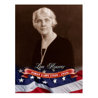 Lou Hoover, First Lady of the U.S. Postcard