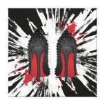 LOUBOUTIN SPATTERS & DRIPS CANVAS GALLERY WRAPPED CANVAS
