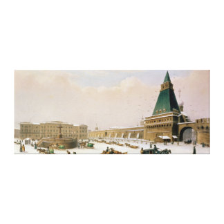Loubyanska Square in Moscow Canvas Print