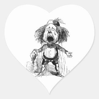 Loud Crying Boy Funny Cartoon Drawing Tears Heart Sticker
