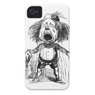 Loud Crying Boy Funny Cartoon Drawing Tears iPhone 4 Case