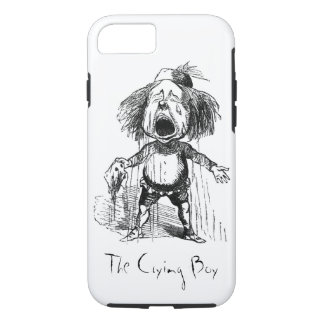 Loud Crying Boy Funny Cartoon Drawing Tears iPhone 8/7 Case