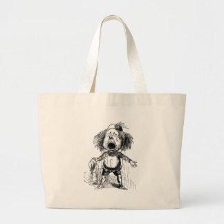 Loud Crying Boy Funny Cartoon Drawing Tears Large Tote Bag