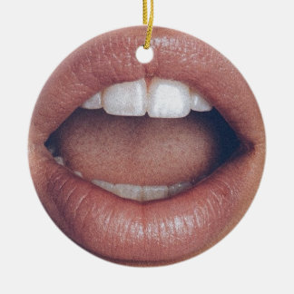 loud mouth ceramic ornament