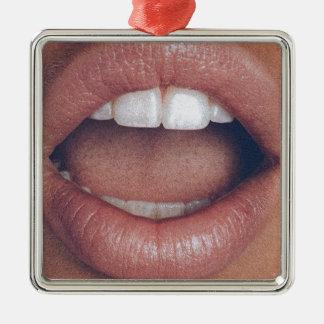 loud mouth metal ornament