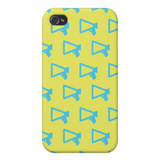 Loud Speaker blue and yelllow iPhone 4/4S Covers