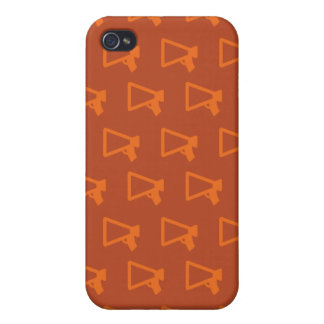 Loud Speaker oranges iPhone 4 Case