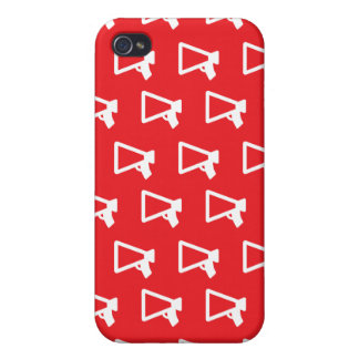 Loud Speaker red iPhone 4 Cover