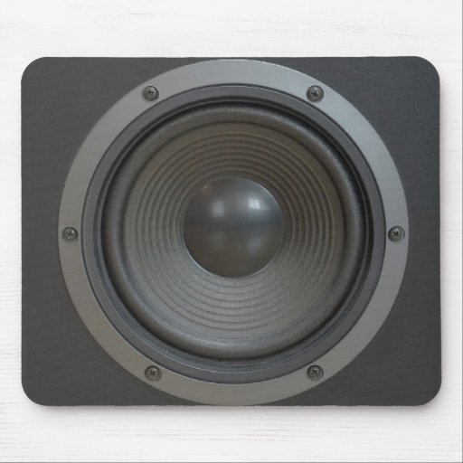 Loudspeaker boxes mouse pad