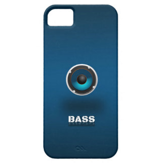 Loudspeaker in blue iPhone 5 case