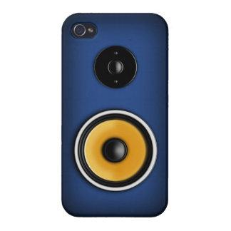 Loudspeaker on Blue iPhone 4 Case