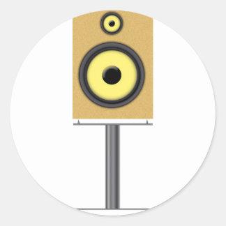 Loudspeaker Round Sticker