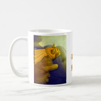 Louie the Ginger Cat as Captain Me-Ow Coffee Mug