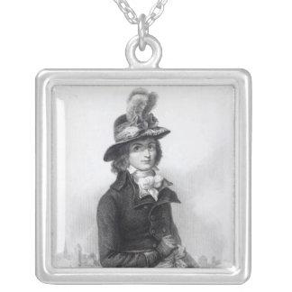 Louis Antoine de Saint-Just Silver Plated Necklace