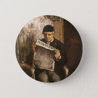 Louis Auguste Cezanne Father Of The Artist Reading 6 Cm Round Badge