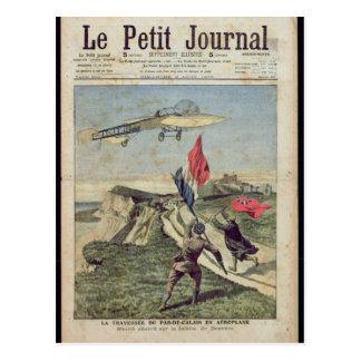 Louis Bleriot  landing at Dover Postcard
