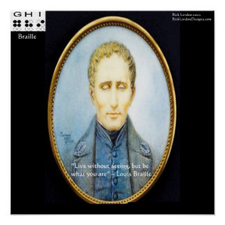 Louis Braille Famous Quote Poster