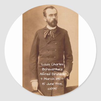 Louis Charles Bonaventure Alfred Bruneau Classic Round Sticker