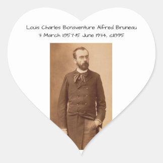 Louis Charles Bonaventure Alfred Bruneau Heart Sticker