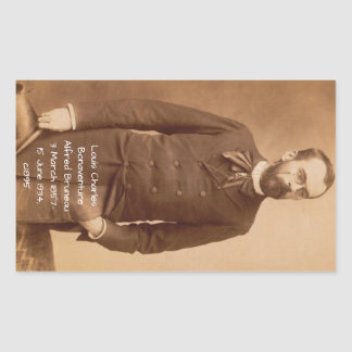 Louis Charles Bonaventure Alfred Bruneau Rectangular Sticker