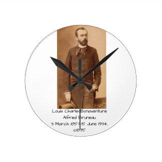 Louis Charles Bonaventure Alfred Bruneau Round Clock