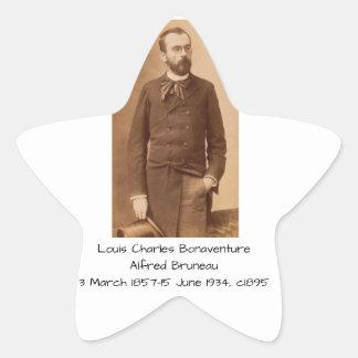 Louis Charles Bonaventure Alfred Bruneau Star Sticker