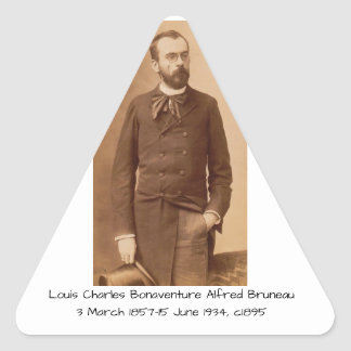Louis Charles Bonaventure Alfred Bruneau Triangle Sticker