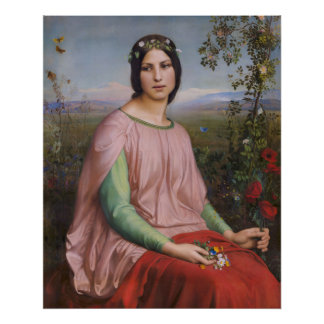 Louis Janmot Flower of the fields CC0915 Large Poster