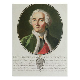 Louis-Joseph de Montcalm  1790 Postcard