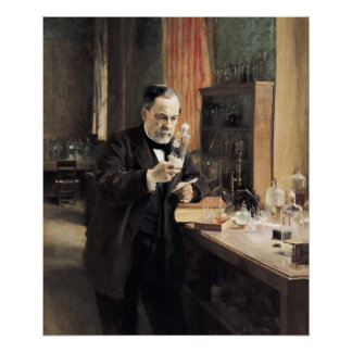 Louis Pasteur  in his Laboratory, 1885 Poster