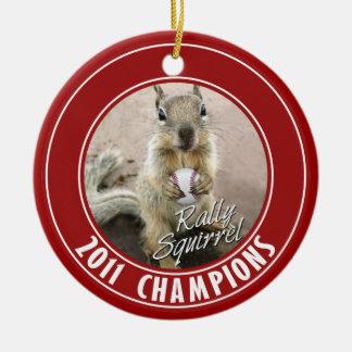 Louis Rally Squirrel 2011 Winners Round Ceramic Decoration