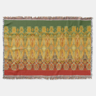Louis Sullivan Truss Frieze Stencil Throw Blanket
