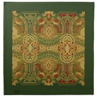 Louis Sullivan Upper Beam Stencil Pattern Napkin