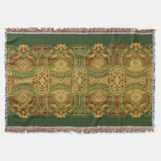 Louis Sullivan Upper Beam Stencil Throw Blanket