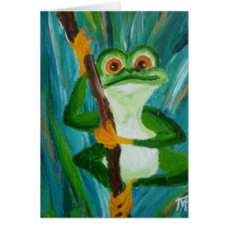 LOUIS the funny Frog - Greeting Card