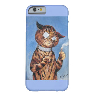 Louis Wain Art- Cat Smoking Cigar iPhone 6 Case