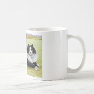 Louis Wain Cat, Black & White Cat Coffee Mug