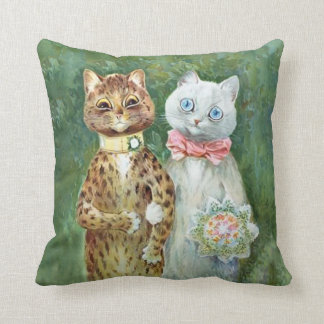 "LOUIS WAIN CATS Bride & Groom ""A Happy Pair"" Cushion"