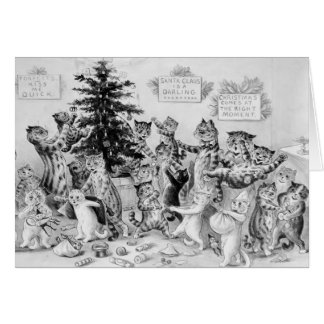 Louis Wain - Cats Celebrating Christmas Card
