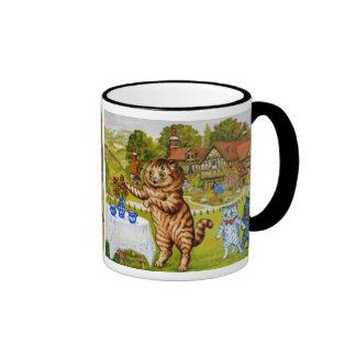 Louis Wain Two Jugs of Milk Coffee Mug Ringer Mug