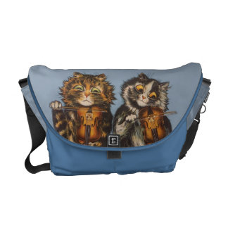 Louis Wain - Vintage Cat Violinists Rickshaw Bag Messenger Bag