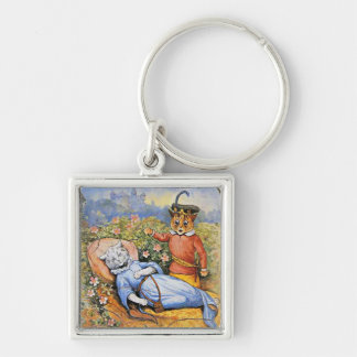 Louis Wain's Cat Sleeping Beauty Keychain