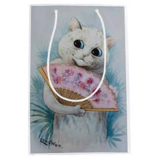Louis Wain's Cat with Pink Fan Gift Bag